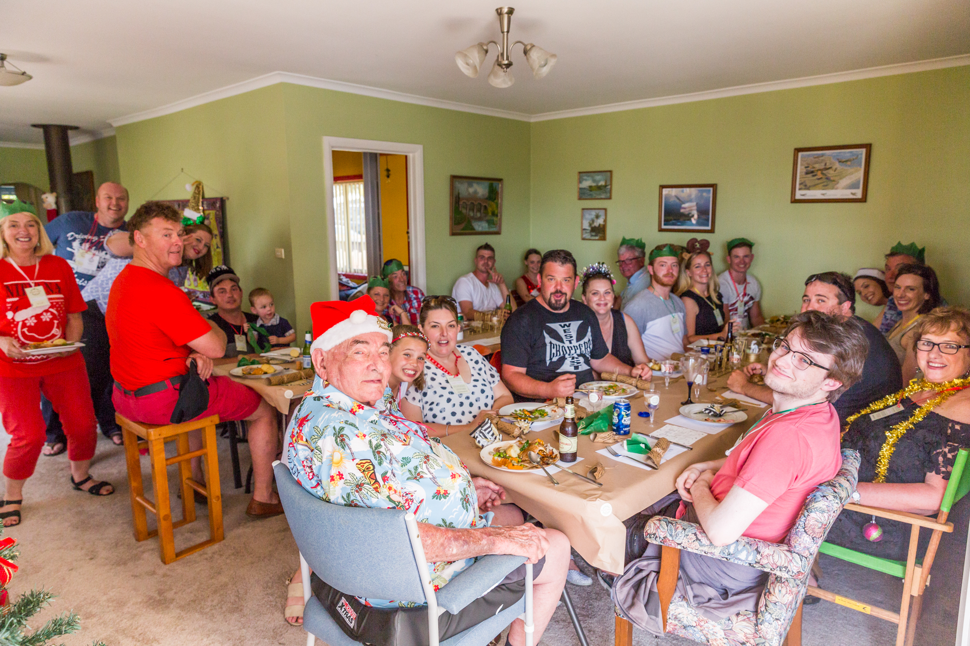 Most of the gang squeezed into Mum and Dad's lounge room so we could all sit together for Christmas lunch