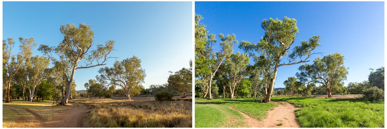 Left: Taken on November 8 2016 at 5.30pm. Right: Taken on January 3 2017 at 5.30pm