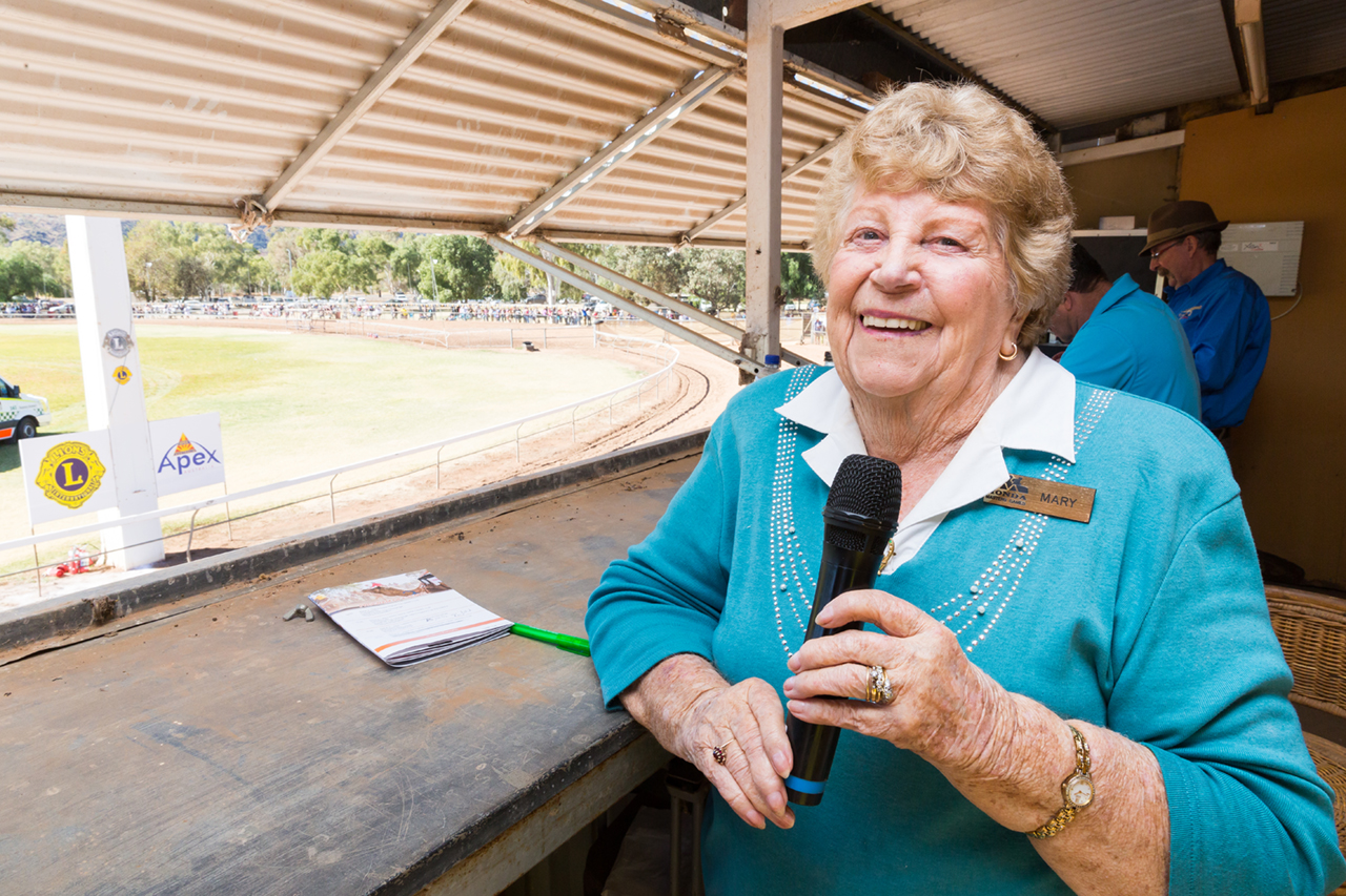 Camel commentator Mary Meldrum doesn't miss a thing from the commentary box