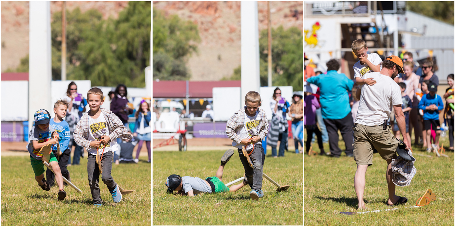 There were multiple casualties in each race, with doting parents ready to pick up the pieces