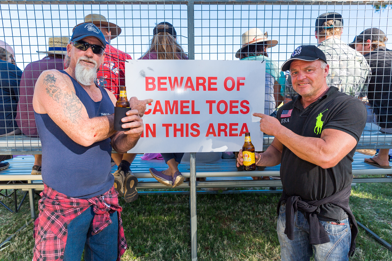 A couple of Alice Springs' finest ensure the safety of the crowd
