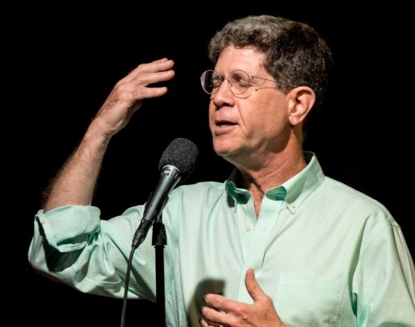 Michael Lemonick tells his story at Caveat in New York City in September 2017.