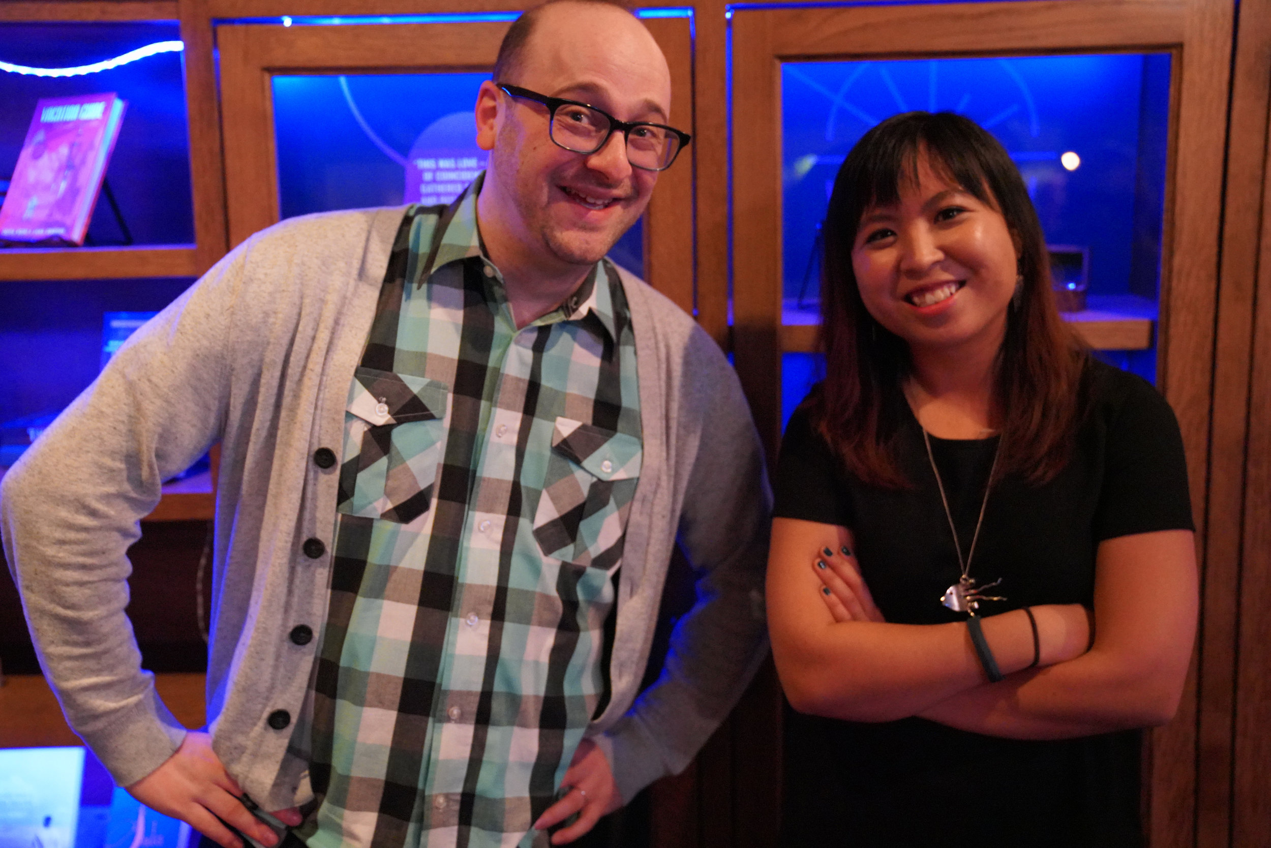 Josh Gondelman with Story Collider St. Louis producer Eli Chen, also a science reporter for St. Louis Public Radio.