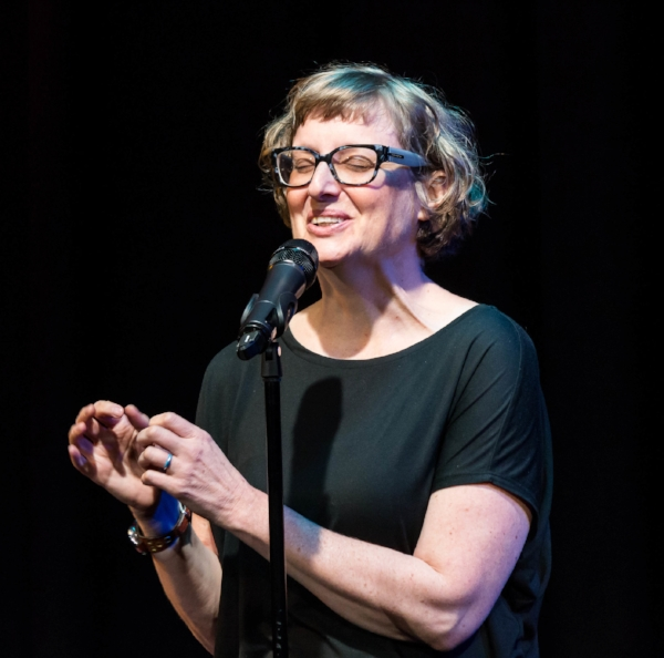 Alison Smith shares her story in November 2017 at Caveat in New York. Photo by Nicholas Santasier.