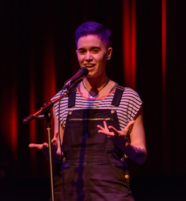 Charlie Cook shares their story in May 2018 at the Fox Cabaret in Vancouver. Photo by Rob Shaer.