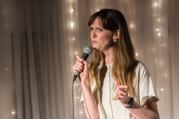 Emma Yarbrough shares her story at the Highland Inn and Ballroom in Atlanta. Photo by Rob Felt.