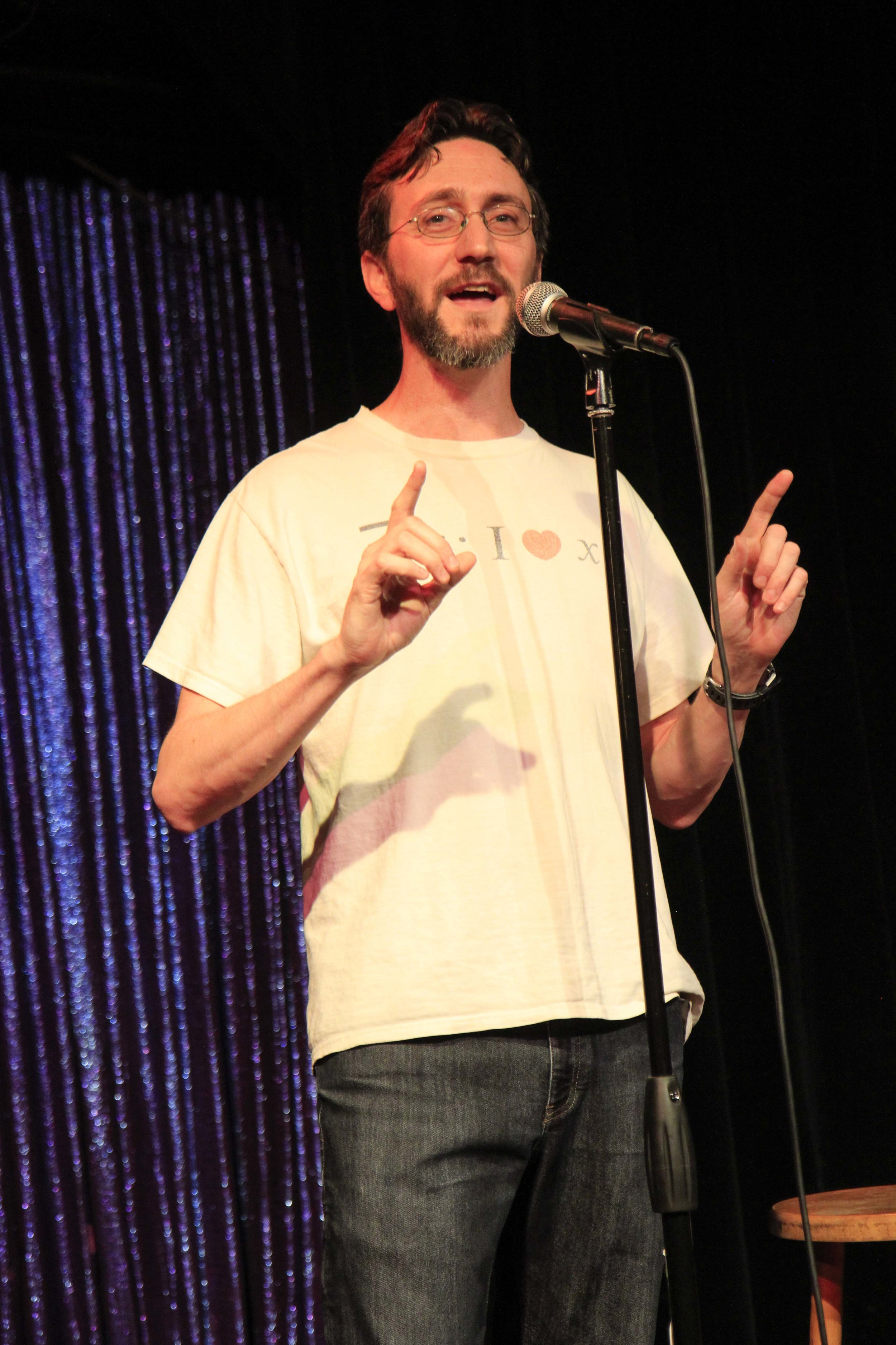 Seth Cottrell shares his story at the Lyric Hyperion in Los Angeles. Photo by Mari Provencher.