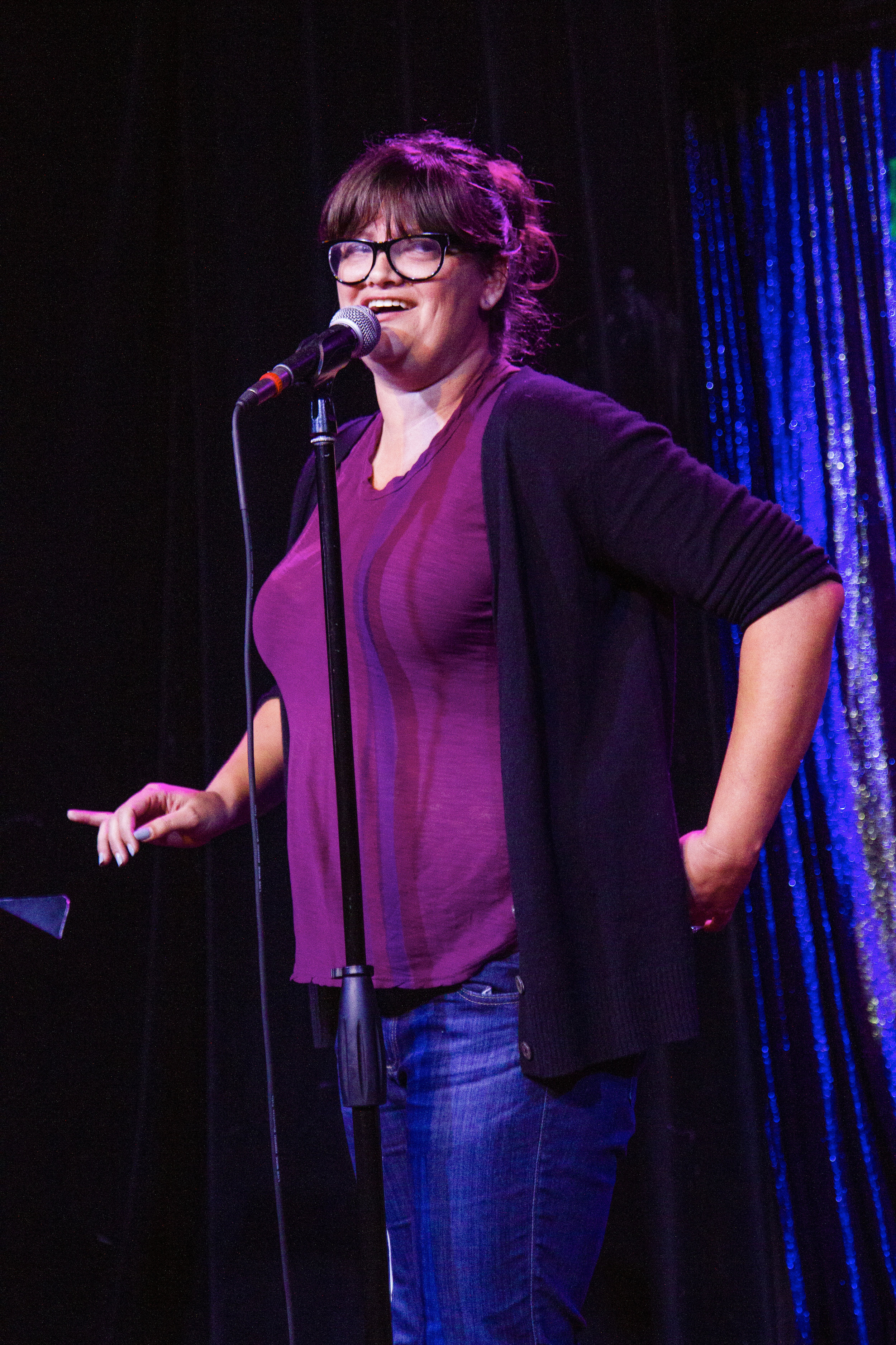 Joey Slamon shares her story at the Lyric Hyperion. Photo by Mari Provencher.