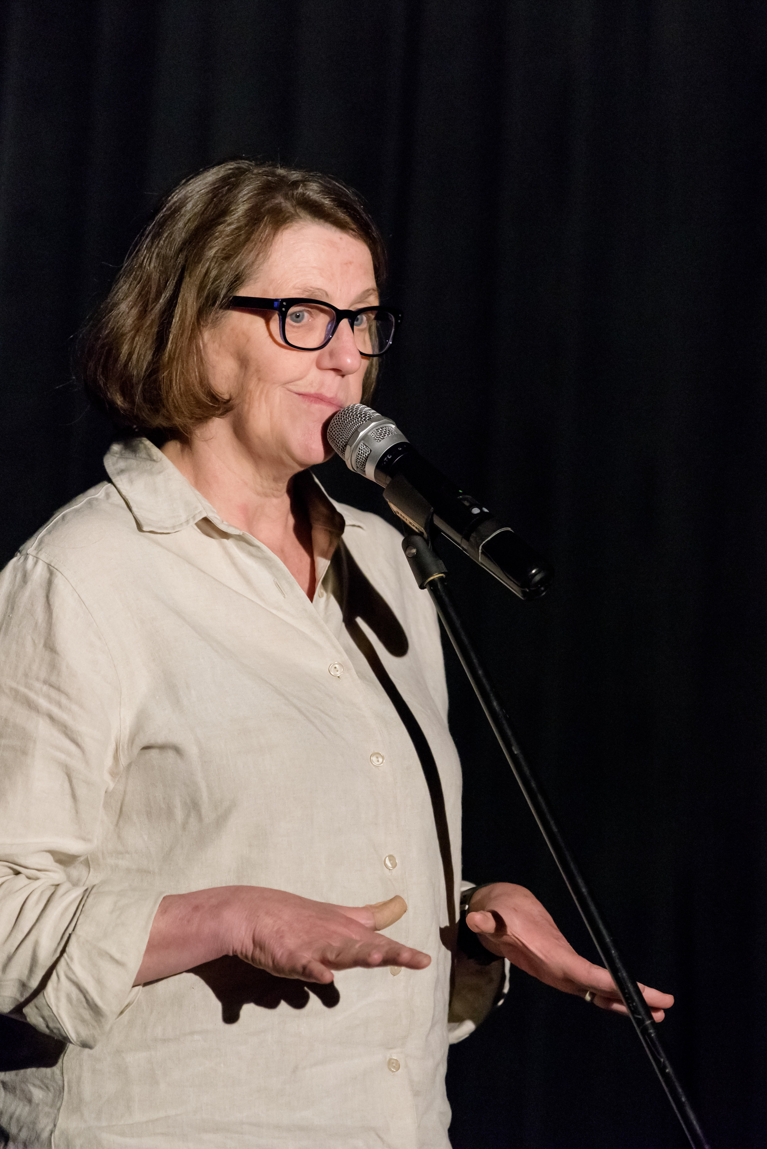 Margaret Rubega shares her story at Real Art Ways in Hartford, CT in October 2018. Photo by Nick Caito.