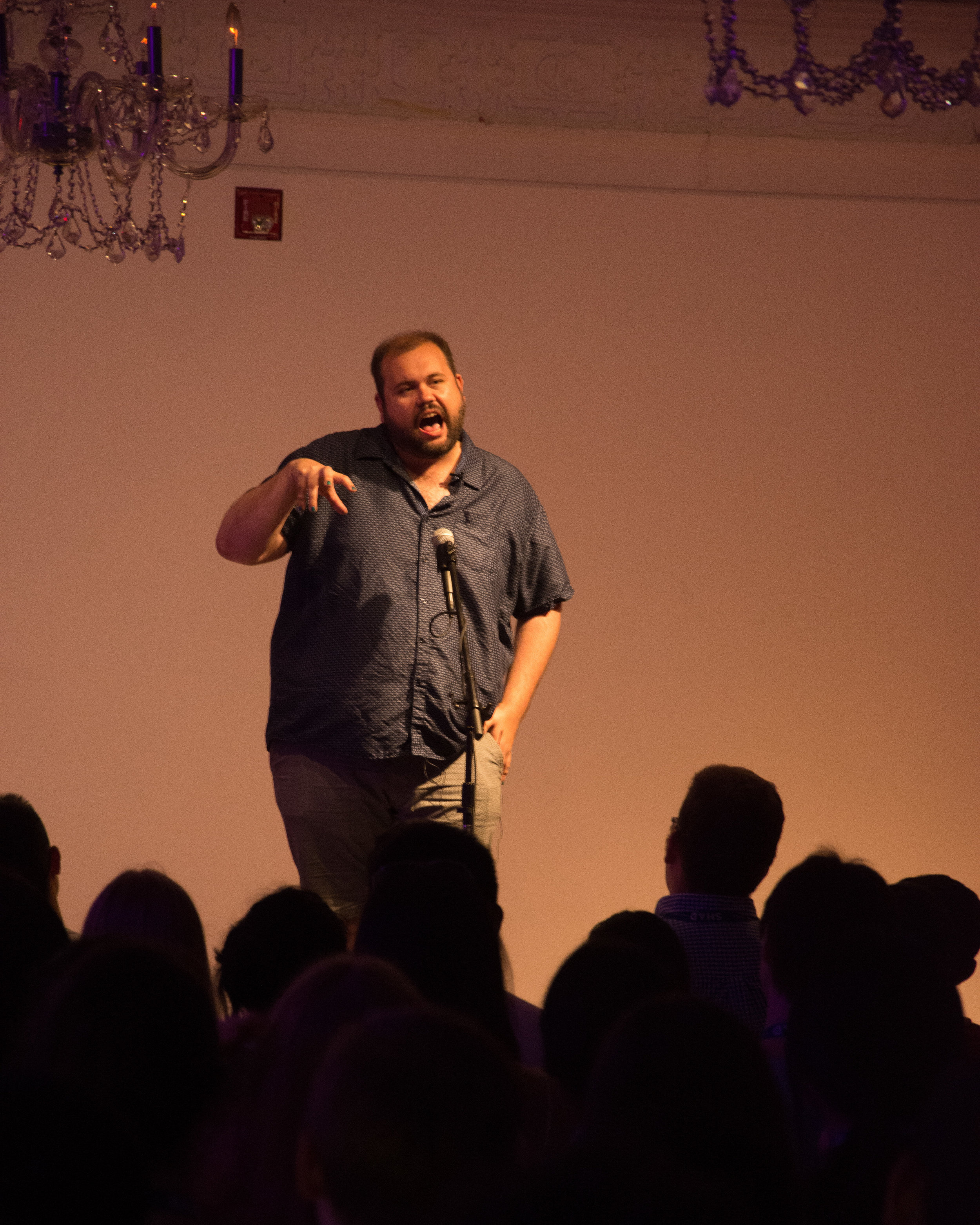 Dan Simpson shares his story with our audience at The 519 in Toronto, ON in July 2018. Photo by Stacey McDonald.