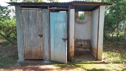 Common school latrine.