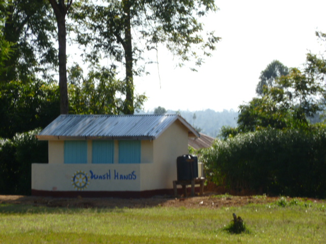 New school latrine built with Rotary money.