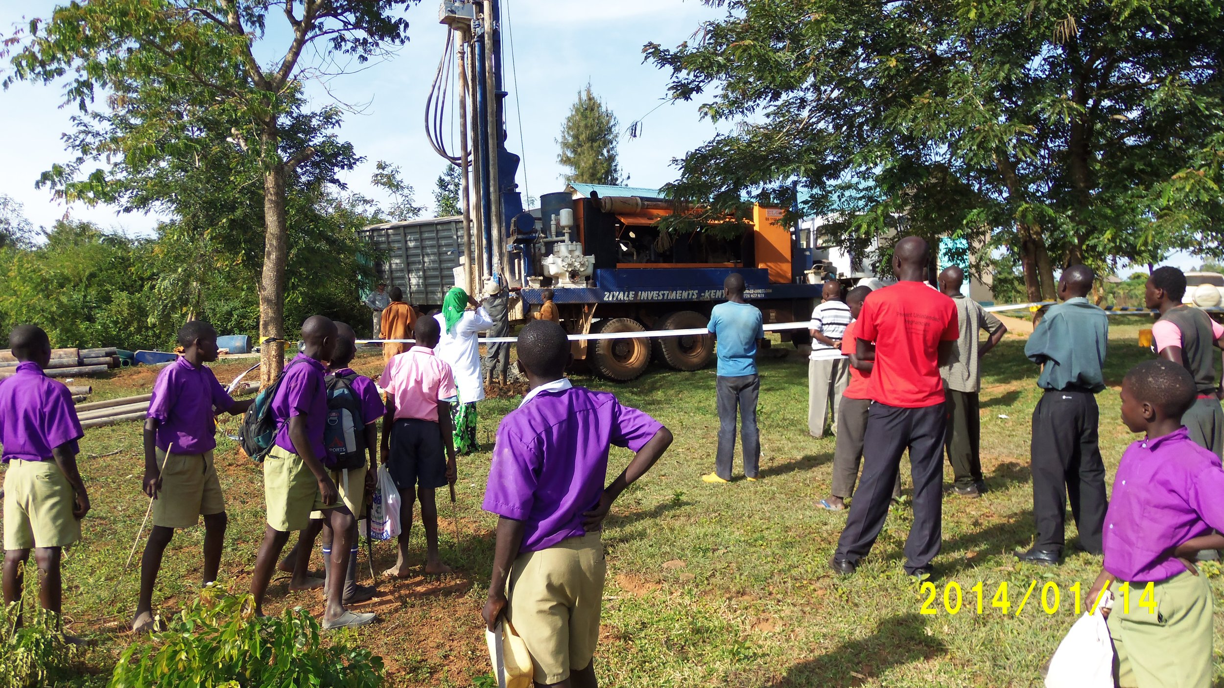 Drilling the new clinic well (EWB).