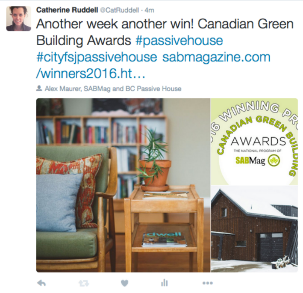 Canadian Green Building Award Winner