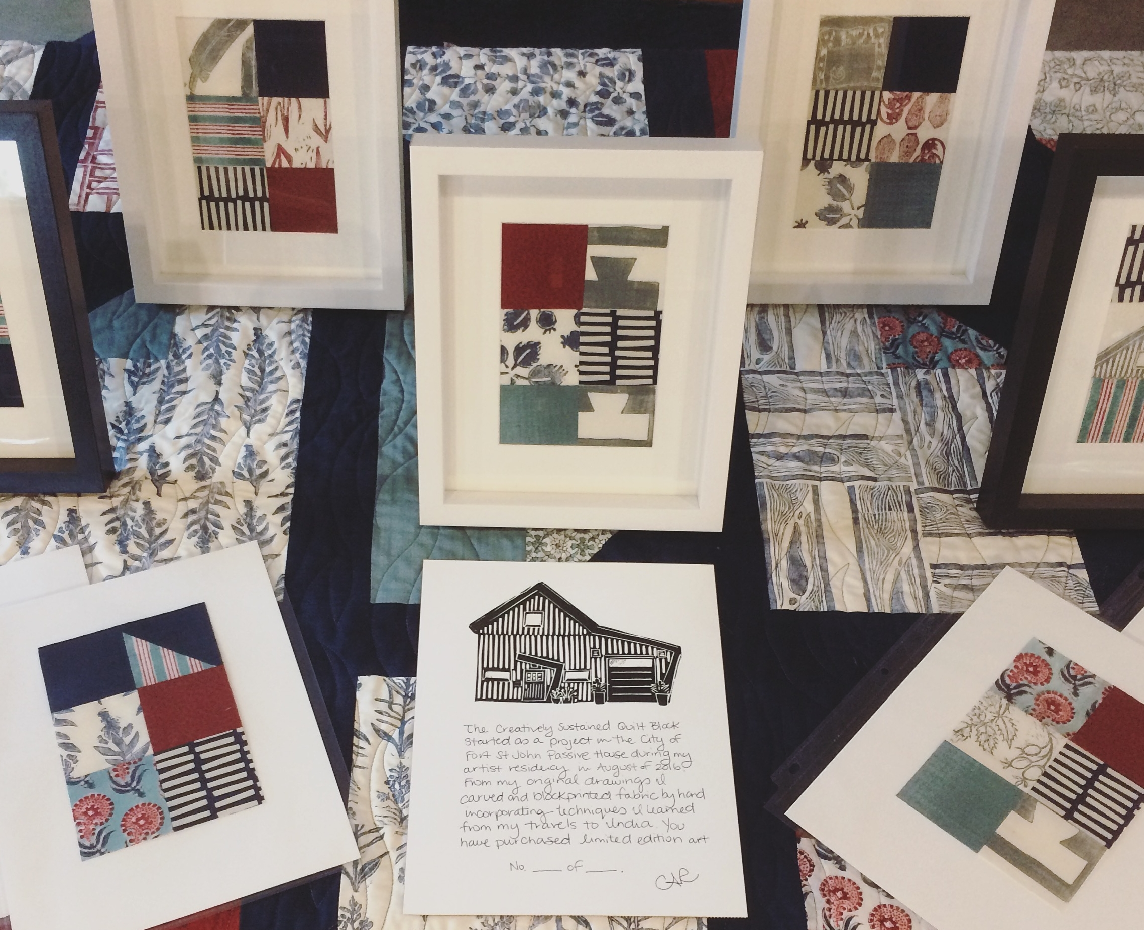 Each piece comes with a mini numbered certificate with a copy of my Passive House blockprint
