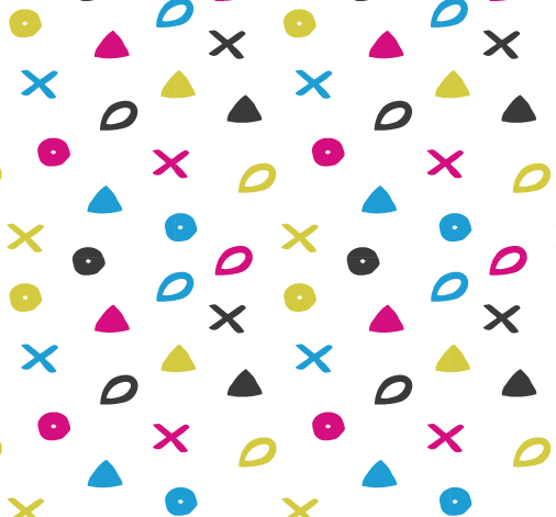 Heritage Symbols as arranged as a digital repeating pattern in Adobe Illustrator