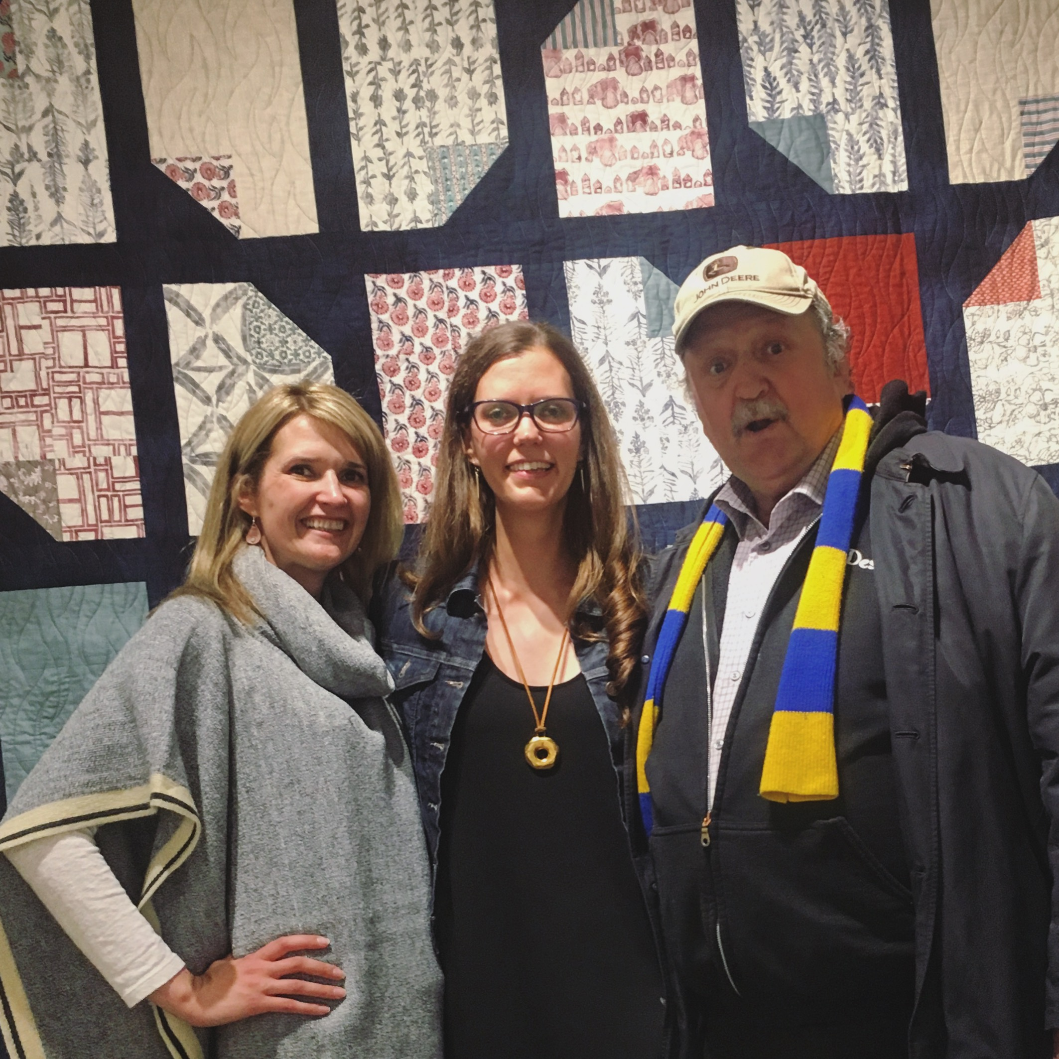 My (excited!) Dad, my Sister and I at the opening of my local art show this fall :)