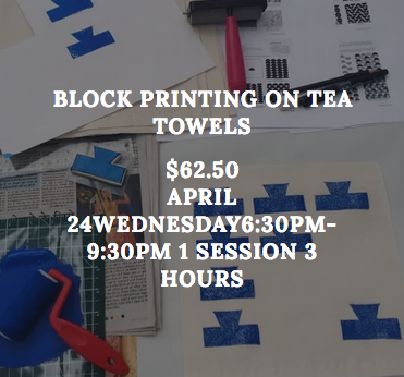 Bloco Printing on Tea Towels