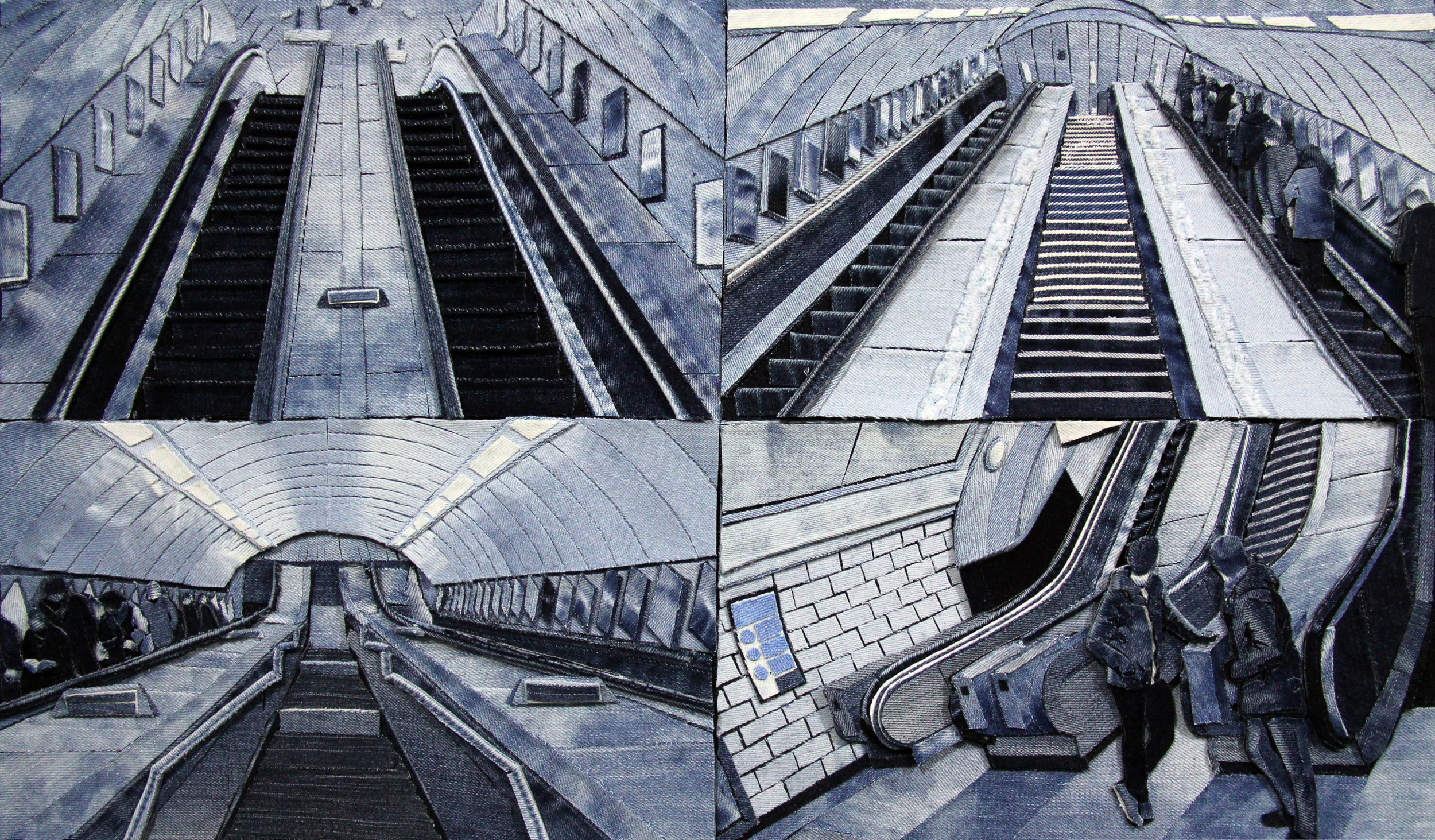 Notting Hill Gate Station escalators