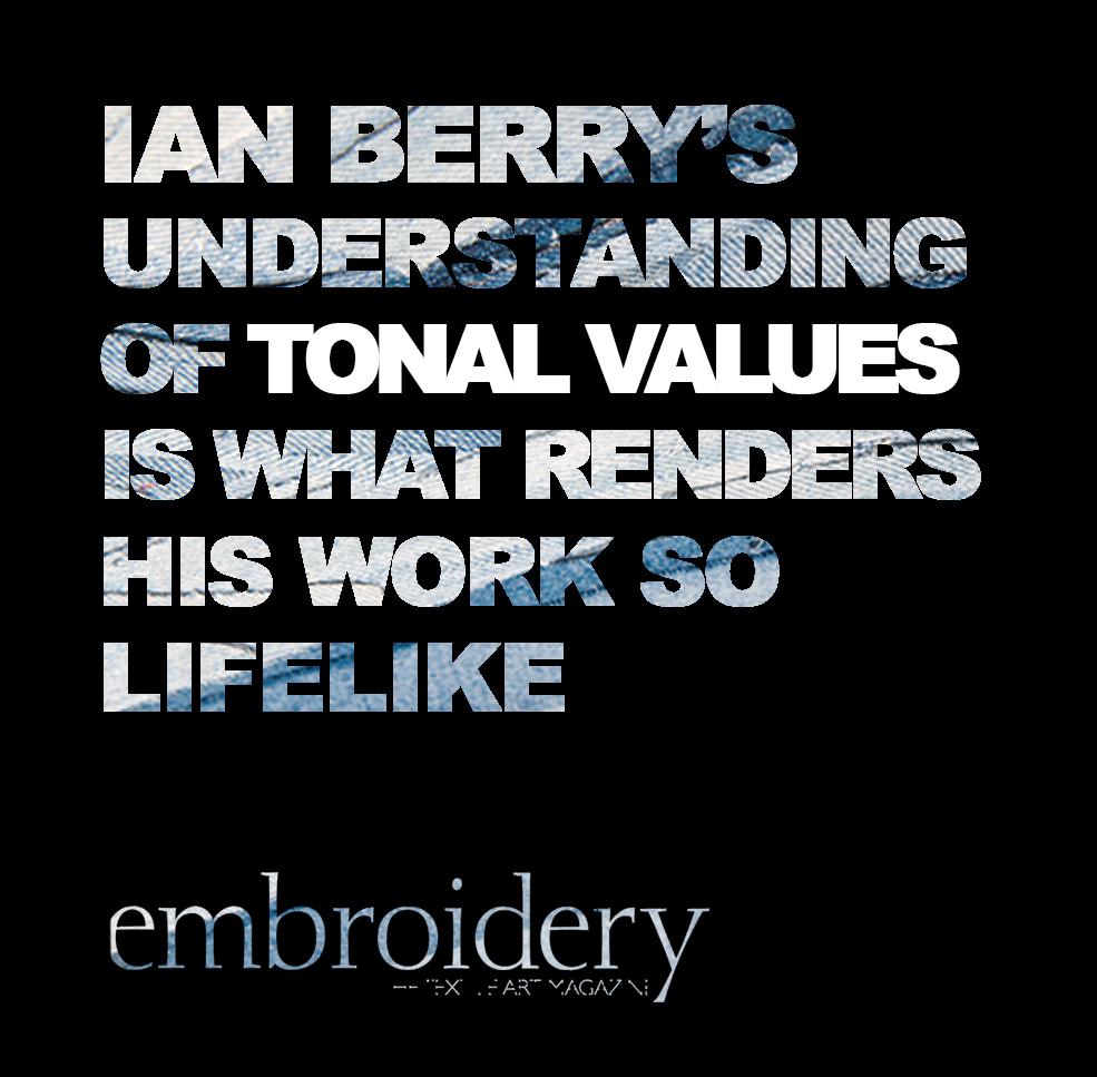 embroidery magazine Ian Berry