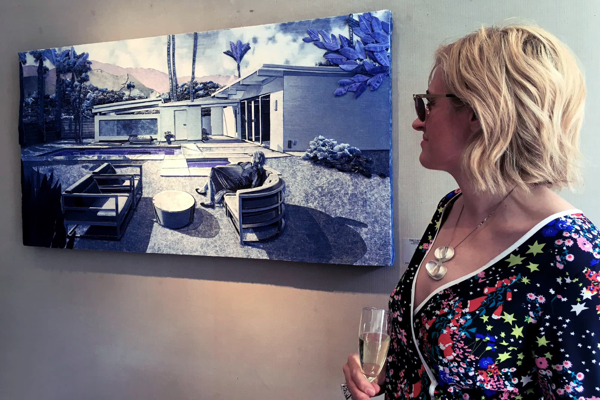 Valerie Martinez at the opening of Hotel California at the Catto Gallery, London