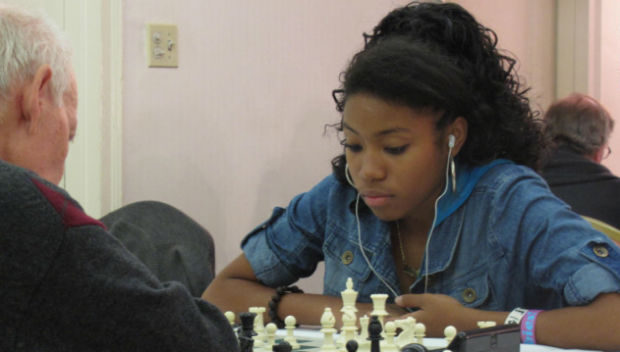 """Got a Girl Crush On: 17-year-old Rochelle Ballantyne of Brooklyn taking the chess world by storm.        …raised by a single mom from Trinidad and soared on the I.S. 318 chess team. Rochelle, now 17 and aiming to become the first African-American woman to become a chess master, has won a full scholarship to Stanford University. She's planning to attend even though she has never visited the campus.     """"We were meant to break stereotypes,"""" Rochelle told me. """"Chess isn't something people are good at because of the color of their skin. We just really work very hard at it.""""    ( ny times )     (via thingsivemade ,   Clutch Magazine  ,   Jezebel )"""
