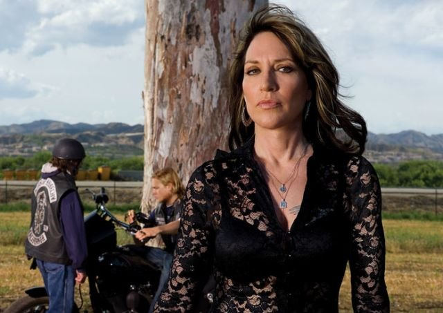Got a Girl Crush On: Katey Sagal as Gemma Teller Morrow in  Sons Of Anarchy     Sure  we already loved her as iconic Peg Bundy , but Katey's Gemma is Queen bee in the biker hive. You don't wanna mess.