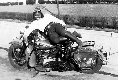 "Got a Girl Crush On: Bessie Stringfield the Motorcycle Queen of Miami      ""Known as the Motorcycle Queen of Miami,  Bessie Stringfield  started riding when she was  16 . She was the first African-American woman to travel cross-country solo, and she did it at age 19 in 1929, riding a 1928 Indian Scout. Bessie traveled through all of the lower 48 states during the '30s and '40s at a time when the country was rife with prejudice and hatred. She later rode in Europe, Brazil, and Haiti and during World War II she served as one of the few motorcycle dispatch riders for the United States military.""     (via  amazonfeminist )"