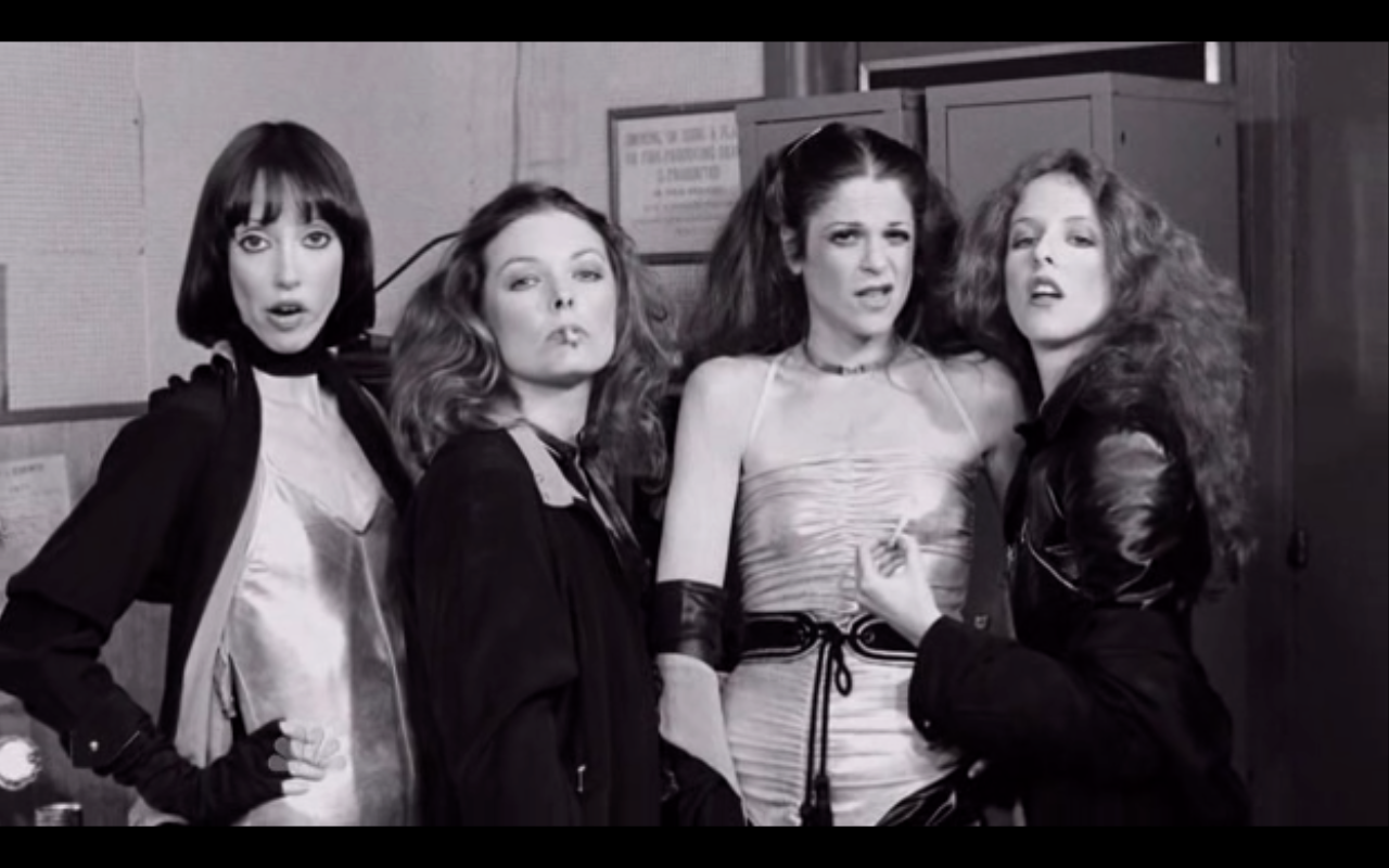 Got a Girl Crush On: The originals babes of Saturday Night Live     Guest Shelley Duvall with Jane Curtin, Gilda Radner, and  Laraine Newman  from the May 14th, 1977 episode .