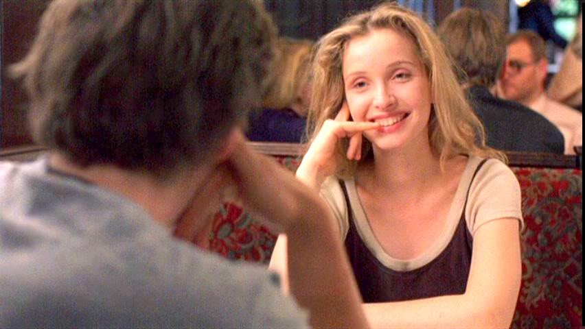 """Got a Girl Crush On: Julie Delpy     Before Sunrise  and  Before Sunset  are some magical magical pieces of film (and, as luck should have it– a third is in the works !). So is 2 Days in Paris  (which she wrote, directed, and starred in). She cut her proverbial acting teeth in a freakin' Godard film to boot!   J.D. is sassy,feisty, sultry, has amazing comedic timing, and as Meighan from My Love For You properly surmised , """"totally bonkers at all the right moments"""".   And, what do you know, girl can also sing too.        Can't wait for more Delpy on Hawke action!   (via thebrookelynway )"""