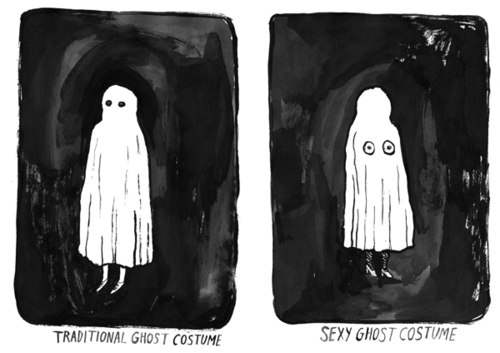 Got a Girl Crush On: Traditional v. Sexy Ghost Costume    by  Kaye Blegvad !