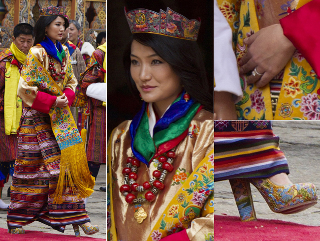 Got a Girl Crush On: What newly crowned Queen Jetsun of Bhutan wore to herwedding    So. Many. PATTERNS!  **headexplodesinjoy**