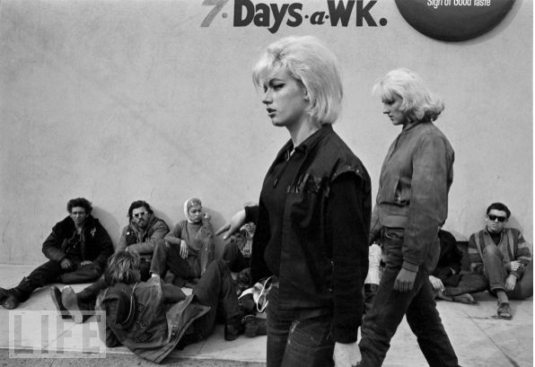 """Got a Girl Crush On: Hells Angels' """"Old Ladies""""       I'm swooning over these never-before-seen Bill Ray photos of the Hells Angels and their """"Old Ladies"""" (emphasis on the latter). In another time and place, I'd probably be out disappointing my parents with this gnarly bunch of fellas.      (via thebrookelynway )"""