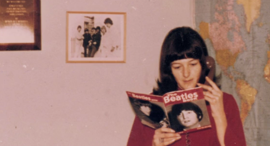 """Got a Girl Crush On:  Good Ol' Freda! the untold storyof Freda Kelly, the Beatles' trusted secretary and friend throughout their rise to fame.      On The Beatles' 1963 Christmas record, George Harrison gives thanks to """"Freda Kelly in Liverpool."""" The three other Beatles shout out in response, """"Good Ol' Freda!""""     George is referring to Freda Kelly, The Beatles' secretary from the early Cavern Club days when they were playing to audiences of 30 people at lunchtime, all the way through their years of international popularity and stardom, and until they eventually broke up in 1970.     P.S. - Check out the  Kickstarter !   (via winesburgohio )"""