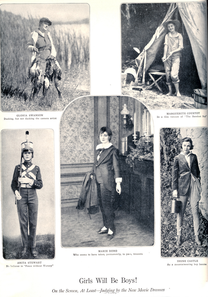 Got a Girl Crush On: old-school tomboy style    Surely you know of  the whole blog dedicated to ladies rockin' menswear , but we love this flash from the past of women pantsing-it-up.