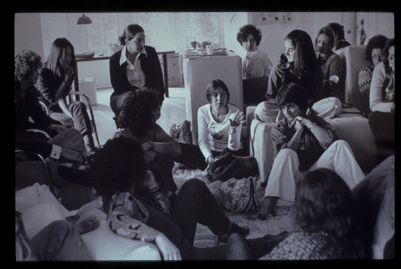 Got A Girl Crush On:  Women Art Revolution     Sheila Levrant de Bretteville, who founded the Feminist Studio Workshop, with Judy Chicago and Arlene Raven. Here they are in de Bretteville's home in 1973.   (via  bbook :  theparisreview )
