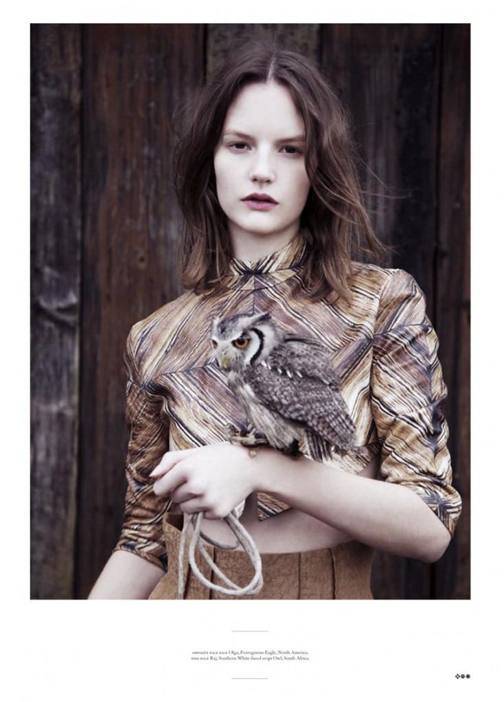 Got A GIrl Crush On: everything about this look    Owl: check.   Cropped wood-grain top: check.   Pale skin with burgundy lips: check.   (via  honeyhoneyhoney :  multiplefashiondisorder )