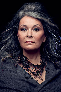 "Got A Girl Crush On:  Roseanne's no holds barred piece about being a feminist in the television industry in last week's New York Magainze     Totally uninhibited and insightful–but would you expect anything less? Also love that she now lives in Hawaii on a macadamia nut farm (her upcoming reality show is fittingly called ""Roseanne's Nuts"")   (photo by Robert Maxwell)"