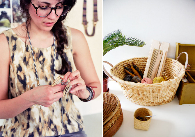Got A Girl Crush On:   Erin Considine    Fab fab fab woven, braided, and metal-smithed jewelry from this BK artist.   (via Jennifer Causey's awesome photo series   The Makers Project  )