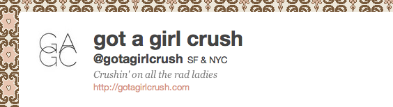 Can't get enough crushin? Follow us on twitter!