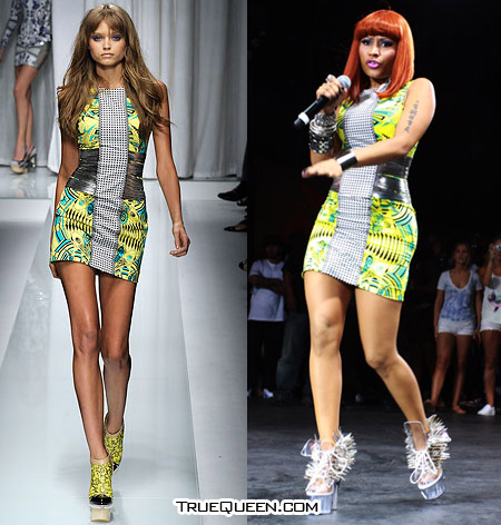 Got A Girl Crush On:  Nicki Minaj in Versace    babiamajora :     She rocks that Versace in a way that those runway models can't even dream of. LET'S GET THICK, FASHION (via truequeen.com )     AMEN, sista!