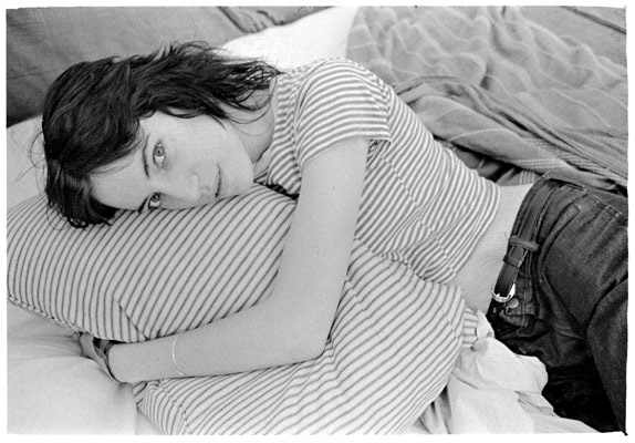 """Got a girl crush on:  Patti Smith 1969 - 1976, Photographs by Judy Linn      """"Judy Linn's photographs remind me of a description I've long carried in my head, probably for forty years or so, and probably from Lao Tzu tho I'm not really sure, that equates walking thru a stream without disturbing the water with the way to live.""""  (via  Feature Inc )"""