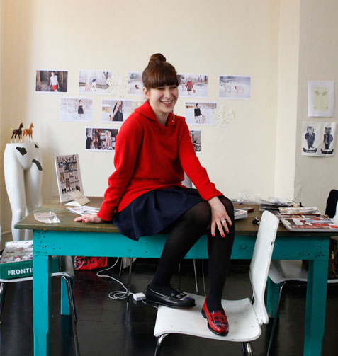 Got A Girl Crush:  Urban Outfitters Interviews Rachel Antonoff     Our favorite   Teen Witch  imitator  and designer dishes out it out on the UO blog about everything from inspiration to sibling rivalry to shoplifting from American Apparel.   Designers–they're  just  like us!   (via honeyhoneyhoney )
