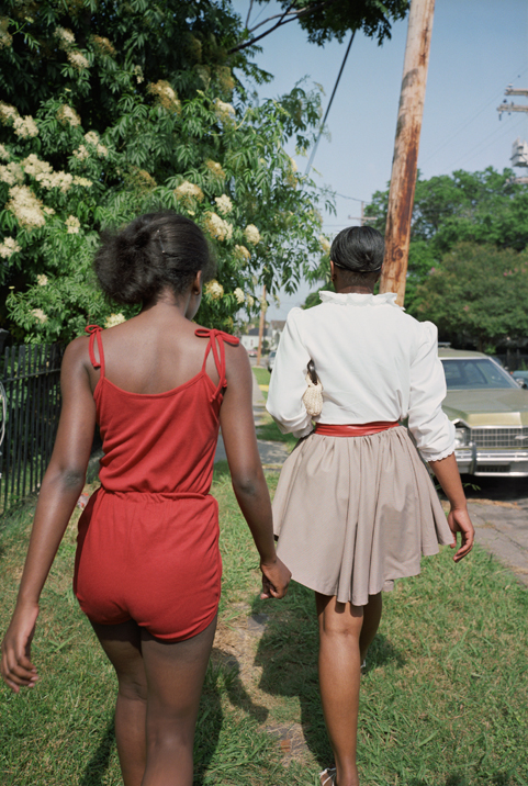 Got A Girl Crush On : The ladies of New Orleans, Louisiana, 1980.    borninflames :     Eggleston, right? I love this. The perspective — you feel like you're a part of their gang. I'm trailing behind the queen bees, as usual.     This photo is timeless in its fashion and coolness. I'd like to think we're heading to the thrift store and then the pool.