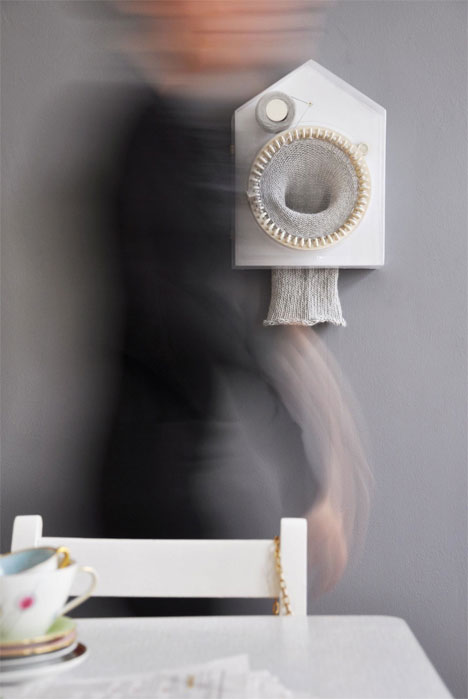 Got A Girl Crush On:   Siren Elise Wilhelmsen , inventor of 2010 Time for Design's winning submission,  Developing Time—Time Developing , a knitting clock!    (via  purlscout )