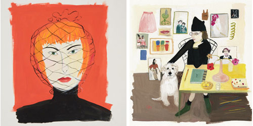 """Got a girl crush on:  Maira Kalman: Various Illuminations (of a Crazy World)   at the Contemporary Jewish Museum    Somehow this exhibit has slipped under my radar for almost an entire month. Luckily it runs through October 26 and there is still plenty of time to see it:    Maira Kalman: Various Illuminations (of a Crazy World)  is the first museum survey of Maira Kalman's narrative art. Working as an illustrator, author, and designer, Kalman illuminates contemporary life with a profound sense of joy and a unique sense of humor. Kalman's art appears everywhere in the foreground of today's visual culture. She is well known for her covers and drawings for The New Yorker , over a dozen books for children and adults, two celebrated illustrated blogs for The New York Times , and collaborations with leading designers and innovators.  The exhibition features a selection of original works on paper that span 30 years of illustration for publication. Also on view are less widely seen works in photography, embroidery, textiles, and performance. As a context for this survey, Kalman has created a special installation, furnishing the gallery with chairs, ladders, and """"many tables of many things,"""" drawn from her collections and indicative of how she sees the world both inside and outside the studio.     Following her stint in San Francisco, this exhibit will travel next to the  Skirball Cultural Center  in Los Angeles (November 16, 2010 - February 13, 2011) and then to  The Jewish Museum  in New York (March 11 - July 31, 2011)."""