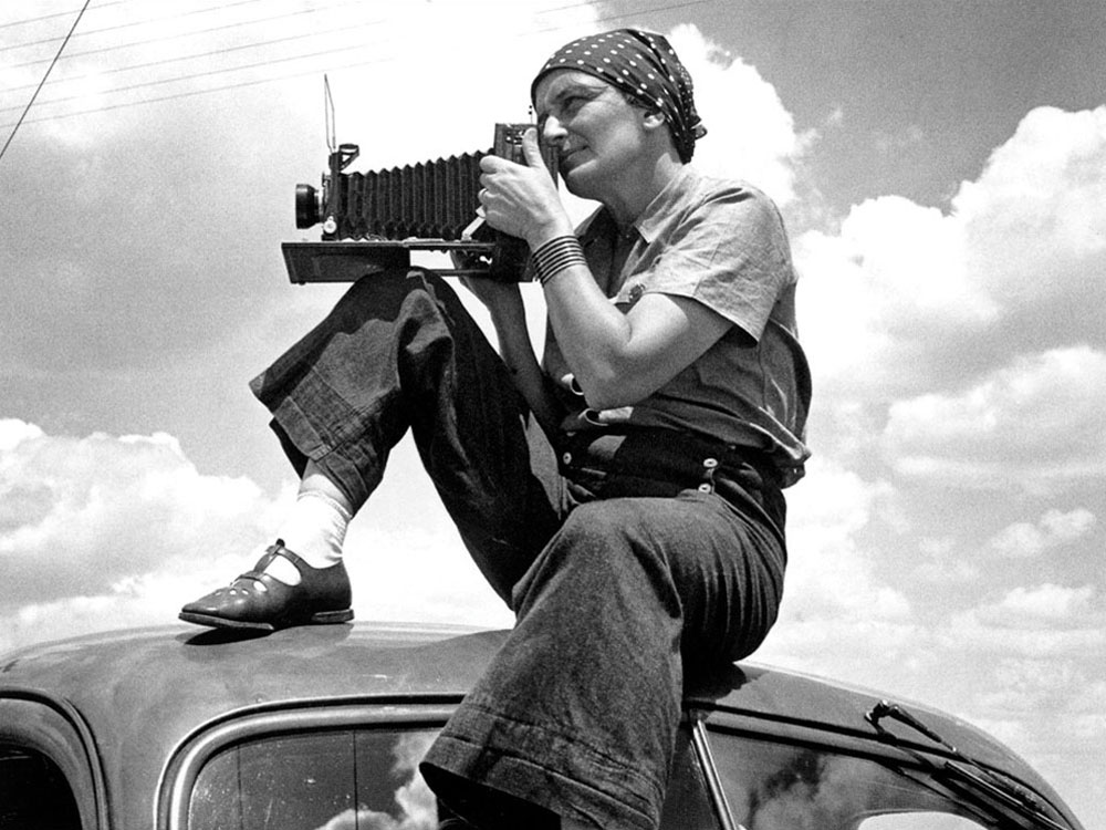 "Got A Girl Crush On:  Dorothea Lange      ""The camera is an instrument that teaches people how to see without a camera.""      Dorothea Lange is most famously known for her iconic ""Migrant Mother"" photo from the Great Depression–but she was also one of the first female photographers to garner huge commercial success via her work for the US government's Farm Security Administration (although usually uncredited).       Check out NPR's fantastic piece  ""Dorothea Lange: Drawing Beauty Out of Desolation"""