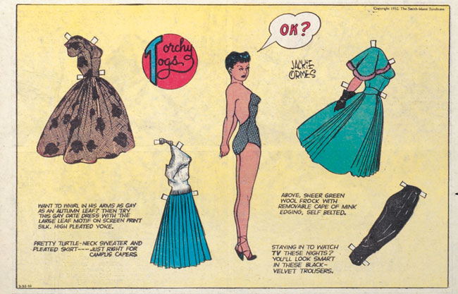 Got A Girl Crush On:  Jackie Orme s, the first African-American woman cartoonist, 1952   (via  superitch & theniftyfifties )