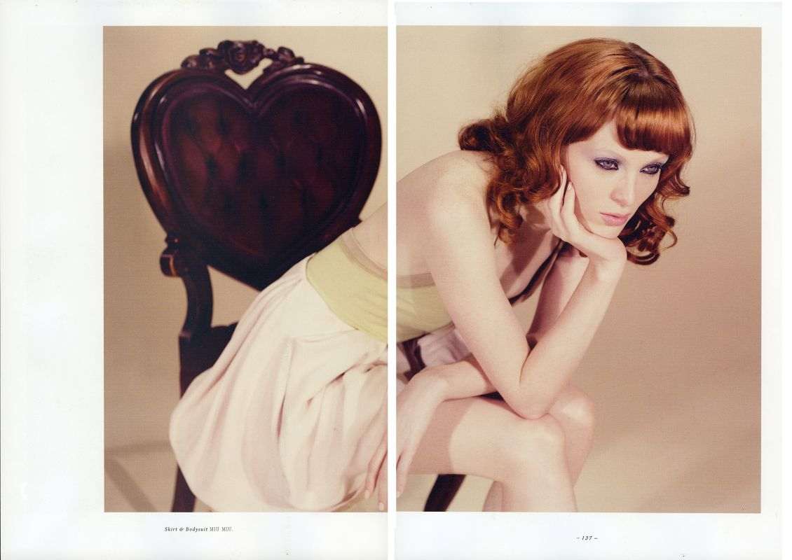 Got a girl crush on: Karen Elson in Lula Magazine #9    I have yet to get my hands on an actual copy of the new Lula, but came across these scans on The Fashion Spot. Karen Elson looks truly amazing.   (via  TFS Lula #9 Thread )