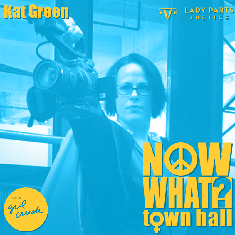 Kat Green // Managing Director, Lady Parts Justice - Before joining Lady Parts Justice League, Kat Green worked as a producer, post supervisor, editor, and shooter for film and television productions around the world (HBO, The Weinstein Company, MSNBC, VH1, Sundance, Spike, The History Channel).  Somewhere in there, she also designed databases for non-profits and post departments, and learned to drive a truck with air brakes.  In her spare time she designs and installs dangerous art and collects obscure skills.Lady Parts Justice is a cabal of comics and writers exposing creeps hellbent on destroying access to birth control and abortion. Inclusive. Intersectional. Fun as Fuck.